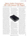 Opera Audio Consonance CD-120 Linear CD Player - Alium Audio - Page 2