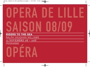Prog riders to the sea:Mise en page 1 - Opéra de Lille