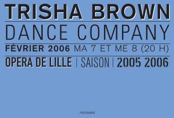 trisha brown - Opéra de Lille