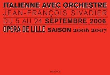 italienne avec orchestre - Opéra de Lille