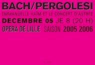 on danƒe - Opéra de Lille