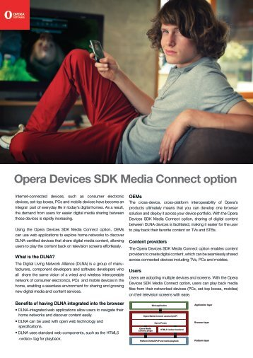 Opera Devices SDK Media Connect option