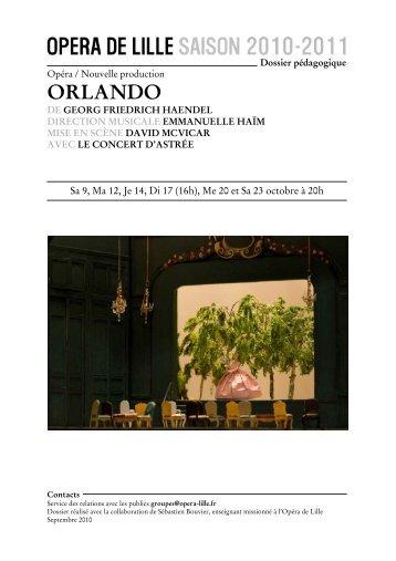 ORLANDO - Opéra de Lille