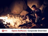 Opera Software: Corporate Overview