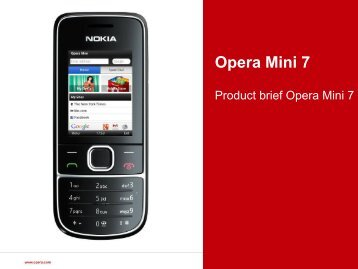 Opera Mini 7 Product Presentation