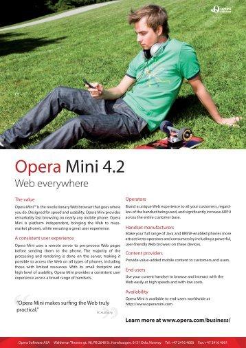 Opera Mini 4.2
