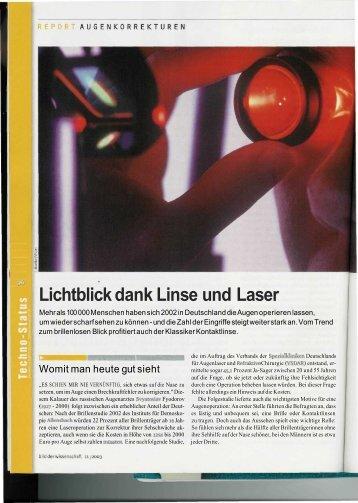 Lichtblick dank Linse und Laser - OperationAuge