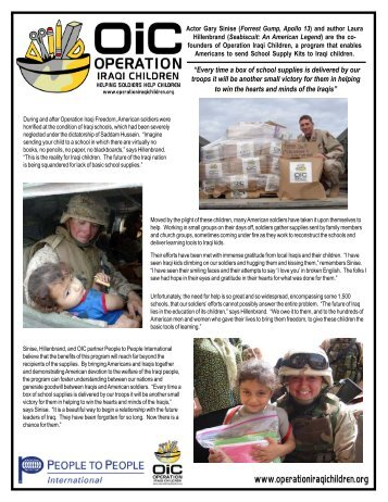 OIC Info Sheet..p65 - Operation Iraqi Children