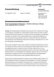 Pressemitteilung - Energieagentur Landkreis Böblingen