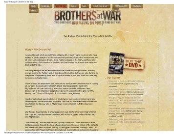 Happy 4th Everyone! | Brothers At War Blog - Operation Iraqi Children