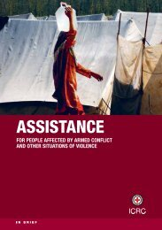 Assistance for people affected by armed conflict and other situations ...