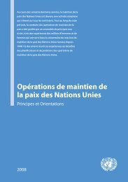Opérations de maintien de la paix des Nations Unies