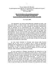 Forum régional de Bamako La participation francophone aux ... - ROP
