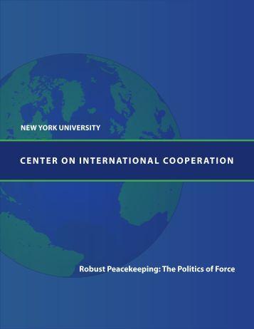 Center on InternatIonal CooperatIon