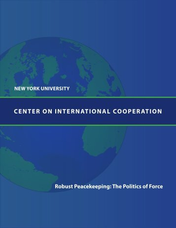 Center on InternatIonal CooperatIon