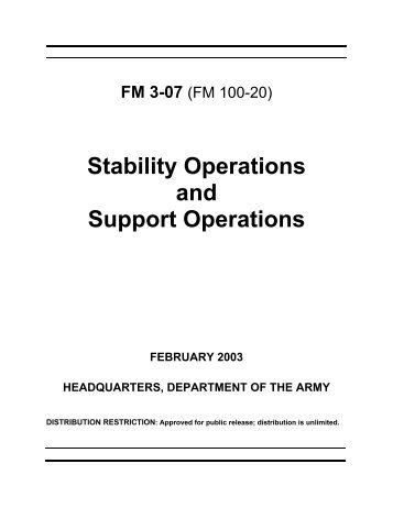 (FM) 3-07, Stability Operations and Support Operations