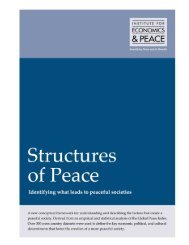 Structures of Peace - Institute for Economics and Peace
