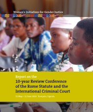 Report on the ICC Review Conference, 2010 - Women's Initiatives ...