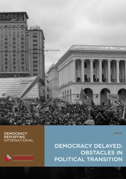 DEmOcRacy DElayED: ObsTaclEs IN POlITIcal TRaNsITION