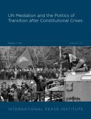 UN Mediation and the Politics of Transition after Constitutional Crises