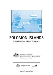 SOLOMON ISLANDS - Department of Foreign Affairs and Trade