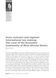 Arms restraint and regional international law making: The case of ...