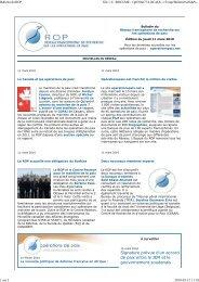 Bulletin du 12 mars 2010 - ROP