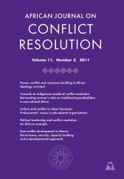 African Journal on Conflict Resolution (Volume 11, Number 2, 2011)