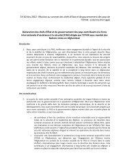 Déclaration des chefs d'État et de gouvernement des pays ...