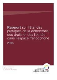 Rapport sur l'état des pratiques de la démocratie, des droits et des ...