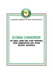ECOWAS Convention on Small Arms and Light Weapons, Their ...