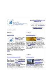 Bulletin du 1 er mars 2012 - ROP