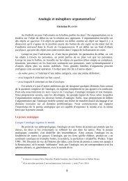 Analogie et métaphore argumentatives - Icar