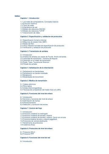Capítulo 1. Introducción 1.1 Las redes de computadores ... - e-BUC