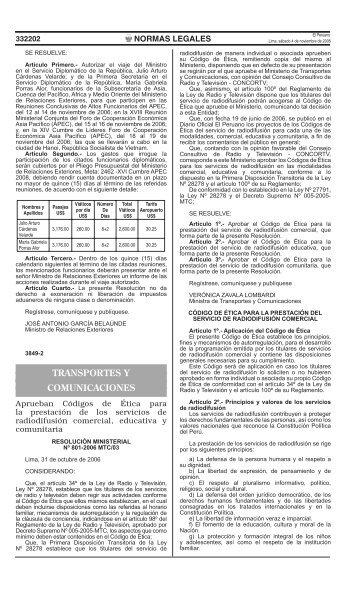 TRANSPORTES Y COMUNICACIONES - Concortv