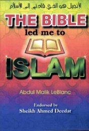 The Bible led me to Islam - PDF - English - Islamicbook.ws