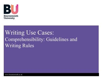 Use Case Rules and Guidelines