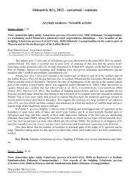 Odonatrix 8(1) - Polskie Towarzystwo Entomologiczne
