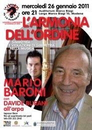 L'ArMoniA DeLL'orDine - Comune di Modena
