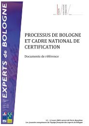 les cadres de qualifications - Agence Europe-Education-Formation ...
