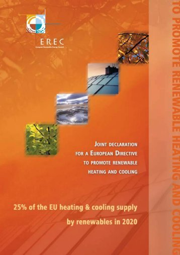 Joint Declaration for a European Directive to promote Renewable ...