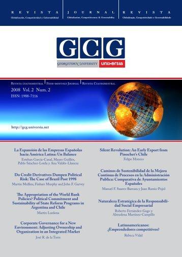 2008 Vol. 2 Num. 2 - GCG: Revista de Globalización, Competitividad ...