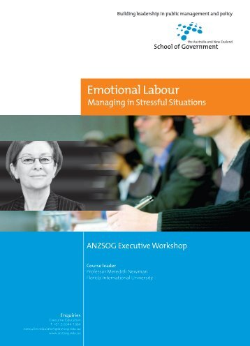 Emotional Labour - Australia and New Zealand School of Government