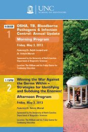 Winning the War Against the Germs Within - UNC School of ...