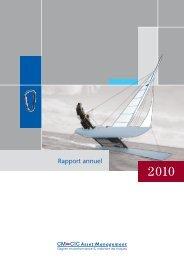 Rapport annuel - CM-CIC Asset Management