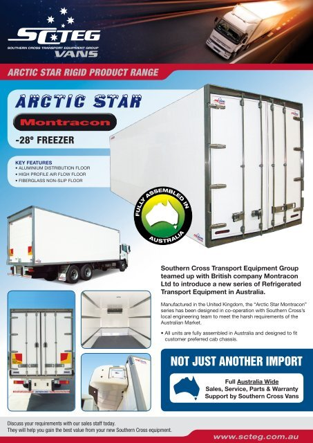 Montracon rigid body box - Southern Cross Transport