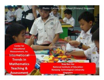 Photo:: Catholic High School (Primary) Singapore - NIE Mathematics ...
