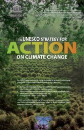 The UNESCO strategy for action on climate ... - unesdoc - Unesco