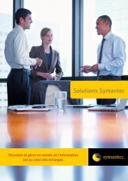 Guide des Solutions Symantec - Insight