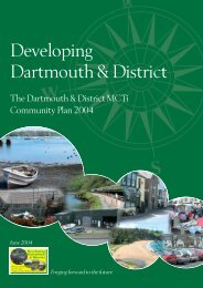 Developing Dartmouth & District - Community Council of Devon
